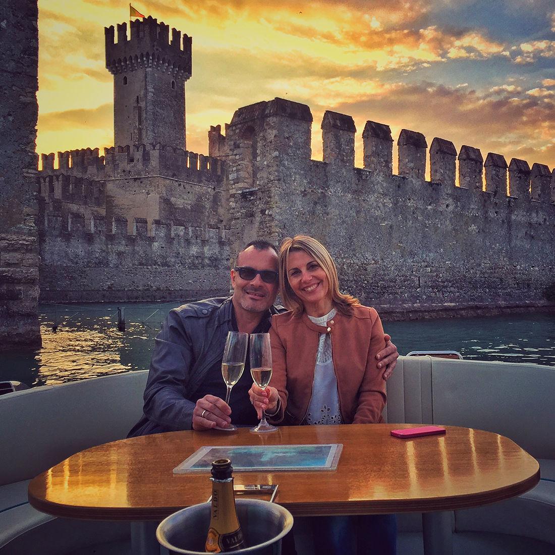 Bertoldi Boats: Anniversary on a boat on Lake Garda